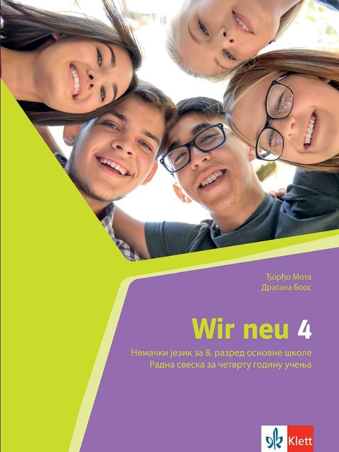Wir 4, nemački jezik za 8. razred radna sveska