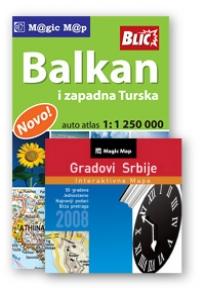 Atlas Balkan i zap. Turske i CD Gradovi Srbije