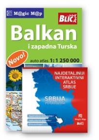 Atlas Balkan i zap. Turske i CD Interaktivni atals Srbije
