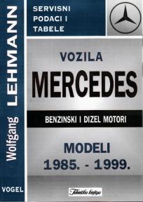 Vozila MERCEDES sa benzinskim i dizel motorom (modeli 1985. - 1999.)