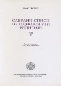 Sabrani spisi o sociologiji religije - II tom