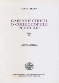 Sabrani spisi o sociologiji religije - III tom