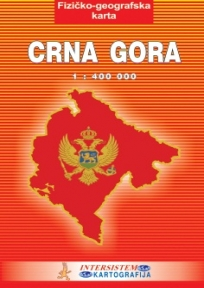 Fizičko-geografska školska karta Crne Gore