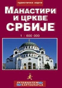 Manastiri i crkve Srbije - turistička karta