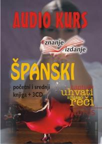 Španski jezik, knjiga + 3 audio CD-a, početni i srednji