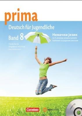 Prima 4, nemački jezik za 8. razred osnovne škole, udžbenik