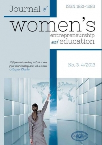 "Journal of Women""s Entrepreneurship and Education 3-4 2013"