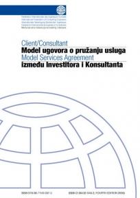 Model ugovora o pružanju usluga između Investitora i Konsultanta - BELA KNjIGA