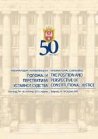 Položaj i perspektiva ustavnog sudstva