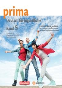 Prima 5, nemački jezik za 1. razred srednje škole, udžbenik sa radnom sveskom