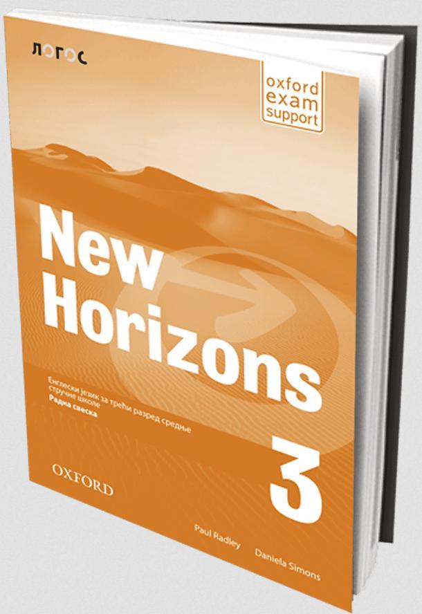 New Horizons 3, radna sveska za treći razred srednje stručne škole LOGOS