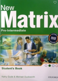 New Matrix Pre-intermediate, udžbenik za 1. i 2. razred srednje škole ENGLISH BOOK