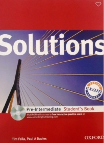 Solutions Pre-intermediate, udžbenik za 1. i 2. razred srednje škole ENGLISH BOOK