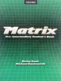 Matrix pre-intermediate - udžbenik iz engleskog jezika ENGLISH BOOK