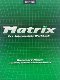 Matrix pre-intermediate - radna sveska iz engleskog jezika ENGLISH BOOK