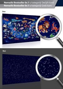 Zvezdana mapa koja svetli u mraku