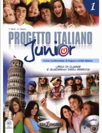 Progetto Italiano Junior 1, komplet (udžbenik, radna sveska, DVD, CD)