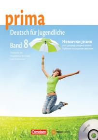 Prima 8, nemački jezik za 4. razred srednje škole, udžbenik sa radnom sveskom