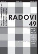Radovi Zavoda za hrvatsku povijest Filozofskog fakulteta sveučilišta u Zagrebu 49