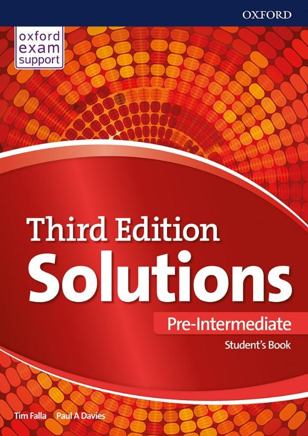Solutions 3rd edition Pre-intermediate, udžbenik za prvi razred srednje škole