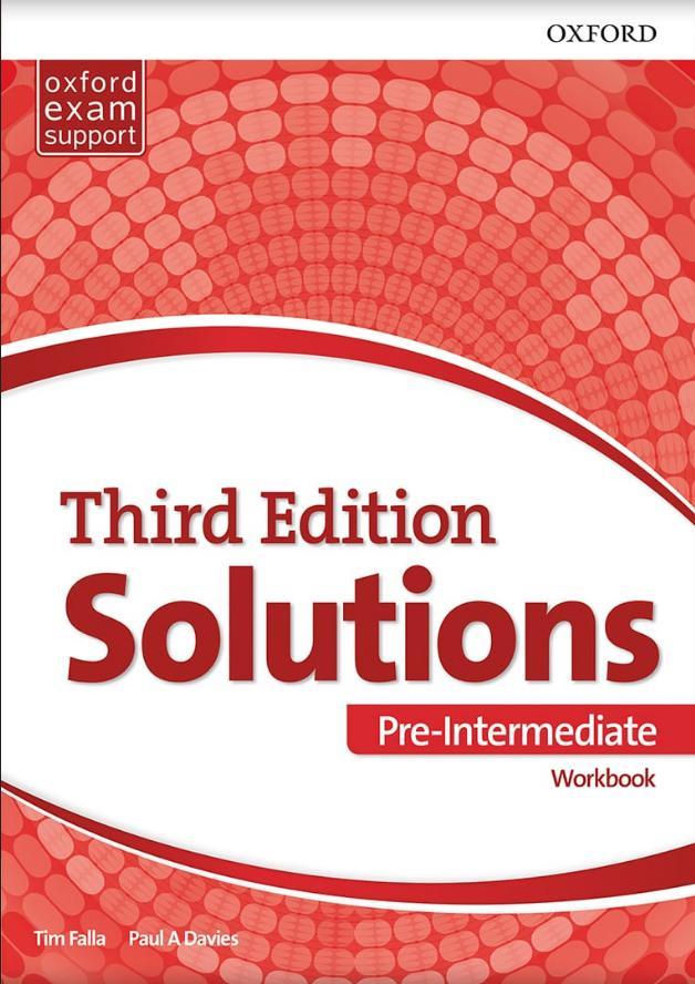 Solutions 3rd edition Pre-intermediate, radna sveska za prvi razred srednje škole