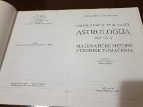 Astrologija II, matematičke metode i tehnike tumačenja