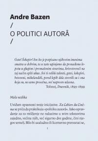 O politici autora