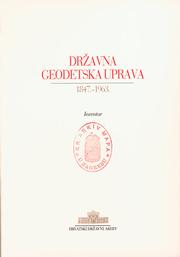 Državna geodetska uprava 1847.-1963. - Inventar