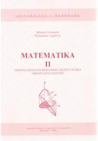Matematika II - Ispitni zadaci sa rešenjima i rezultatima